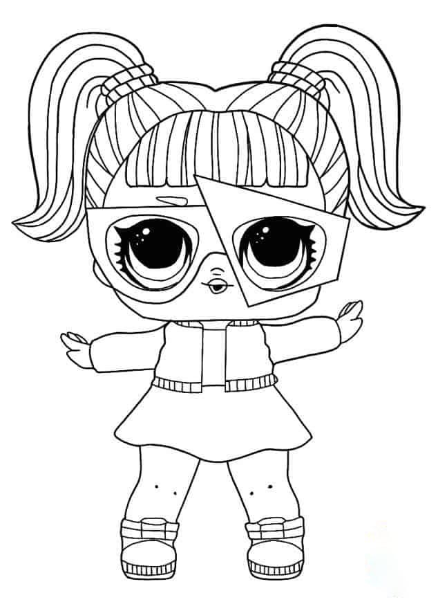 Lol Suprise Doll Glamstronaut Coloring Page
