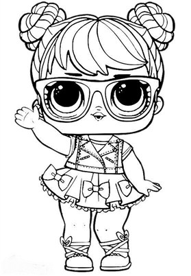 Glass Lol Surprise Doll Coloring Page