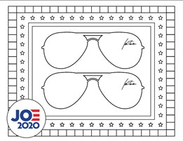 Glasses Joe Biden 2020 Coloring Page