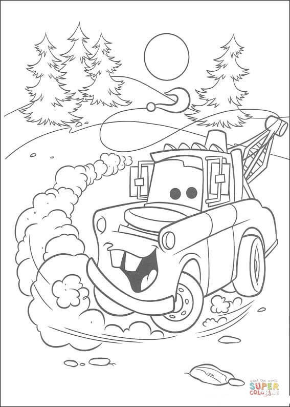 Mater From Disney Cars Coloring Page