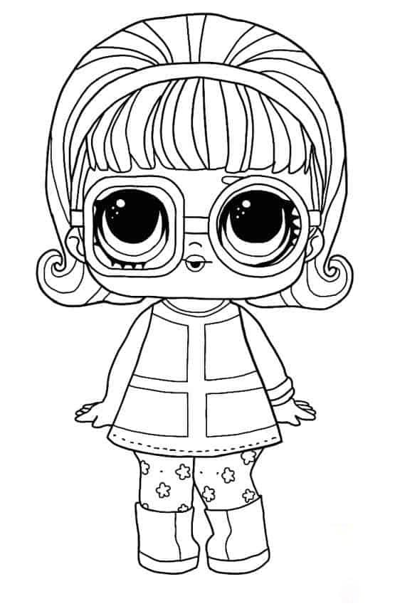 Lol Suprise Doll Go-go Gurl Coloring Page