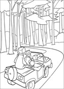 Go Hunting In The Forest Coloring Page