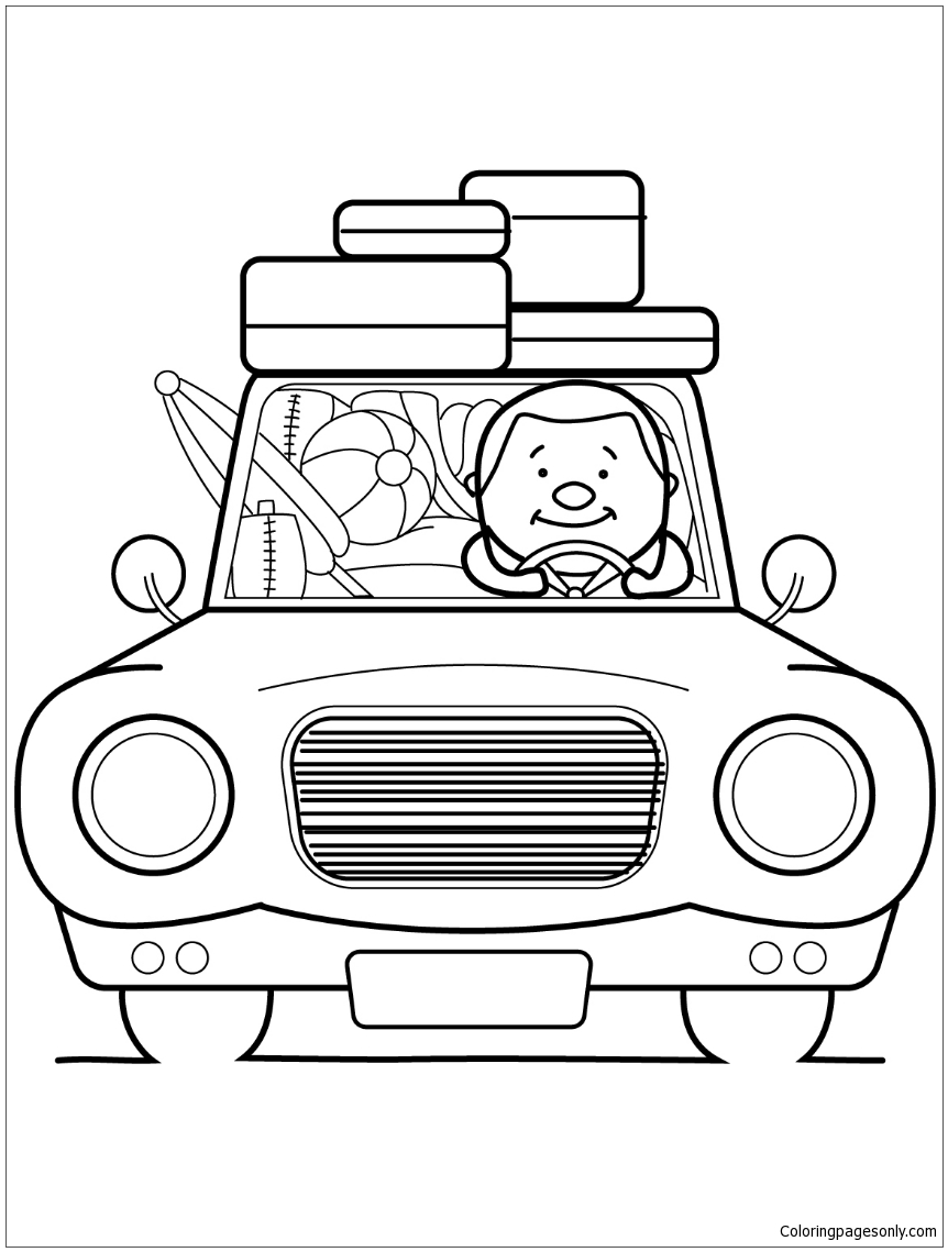 Go Summer Vacation Coloring Page Free Coloring Pages Online