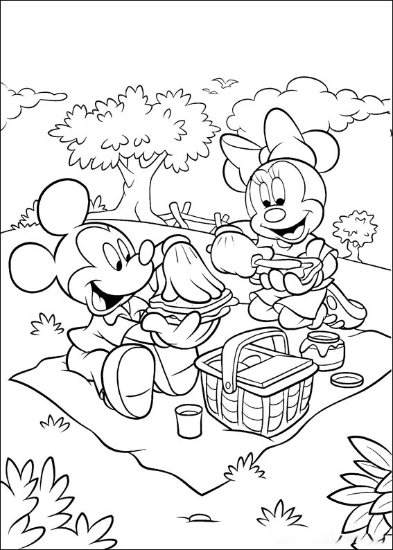 Go to picnic Coloring Page