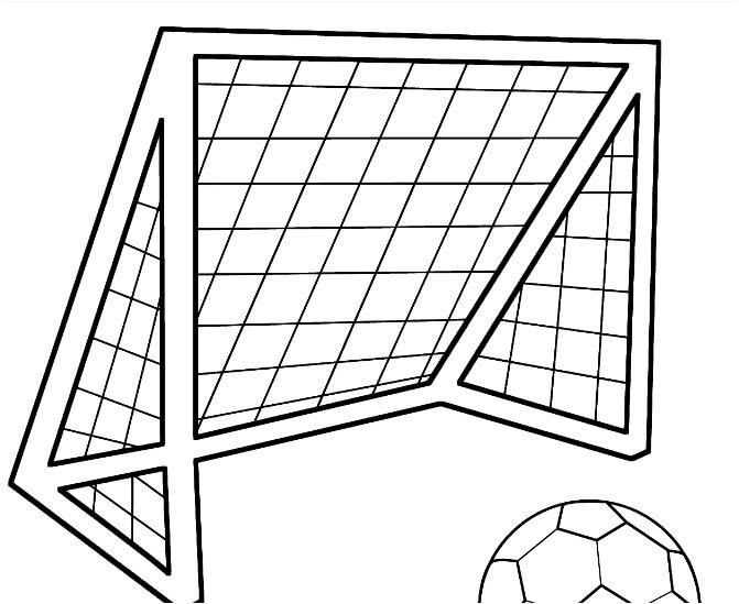 Goal and Ball Soccer