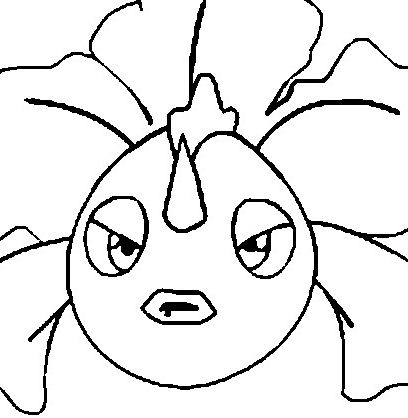 Goldeen Pokemon Coloring Page