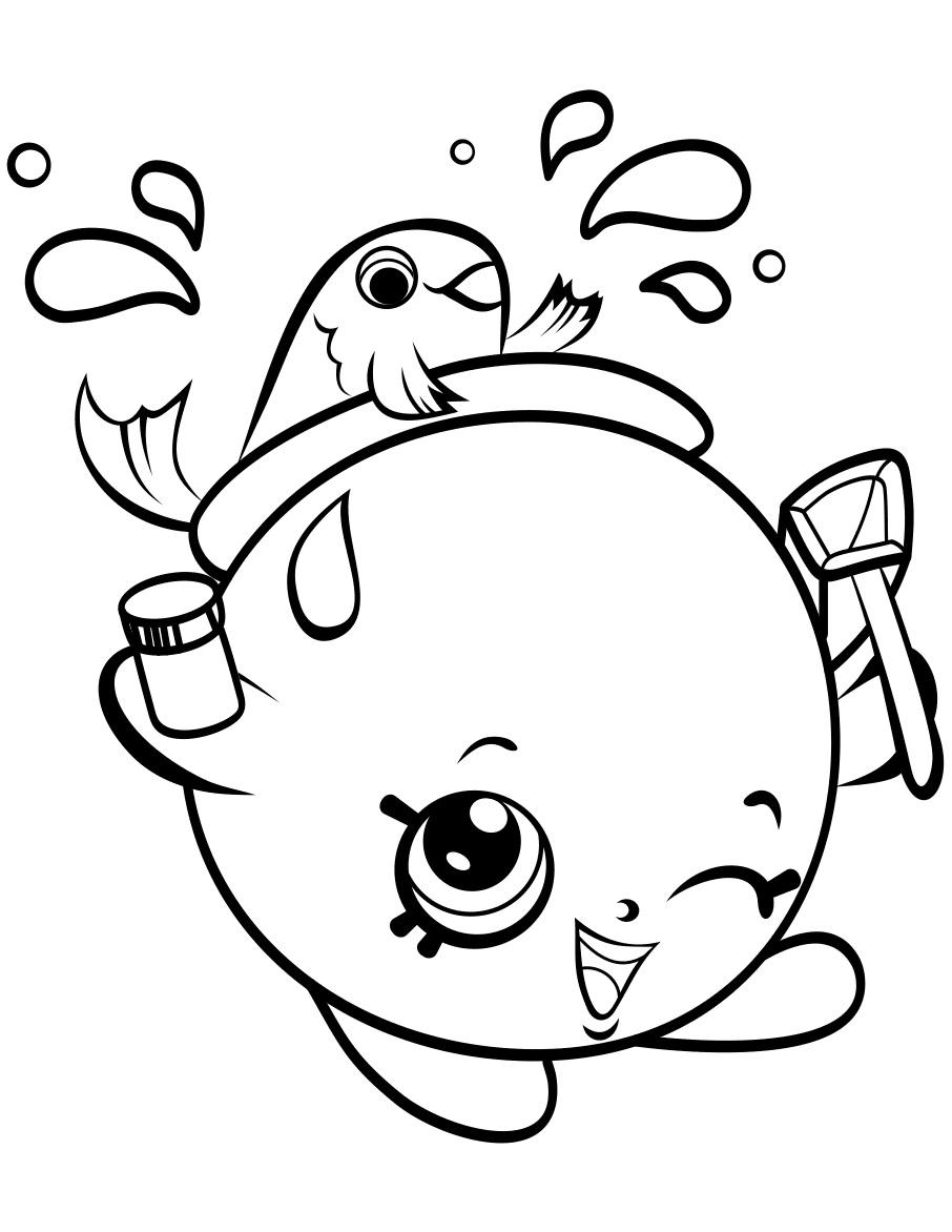 Goldie Fishbowl Shopkin Season 4 Coloring Page