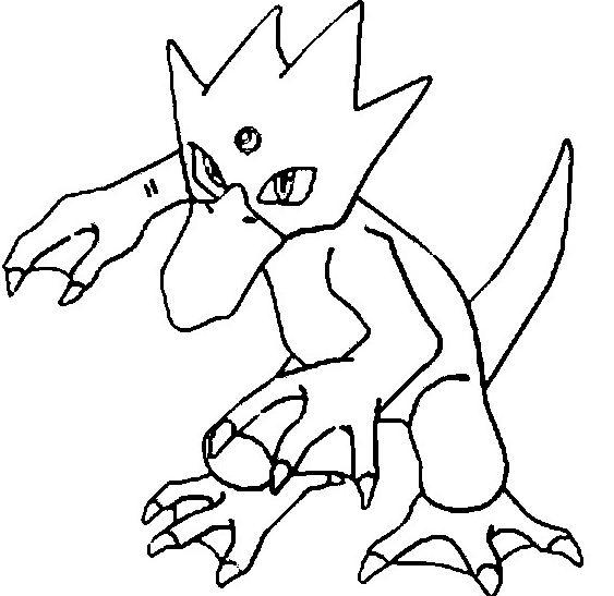 Golduck Pokemon Coloring Page