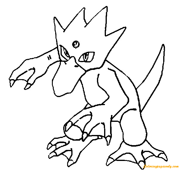 Golduck Pokemon Coloring Pages