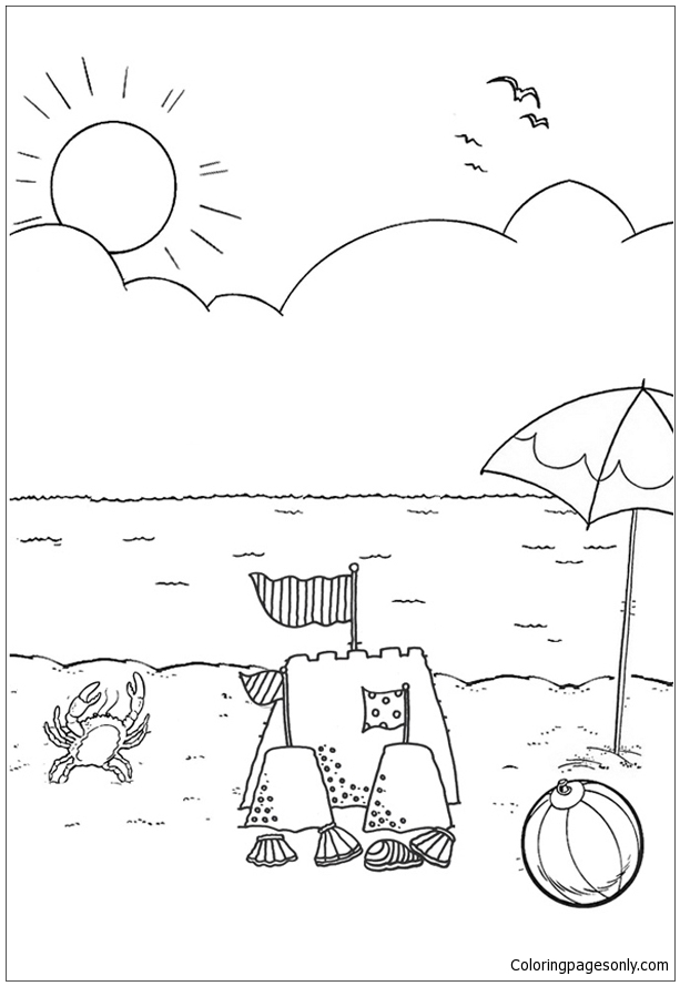 Good Beach 1 Coloring Page