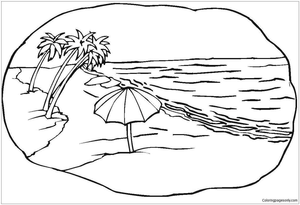 Good Beach Coloring Page