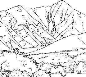Good Mountain Coloring Page