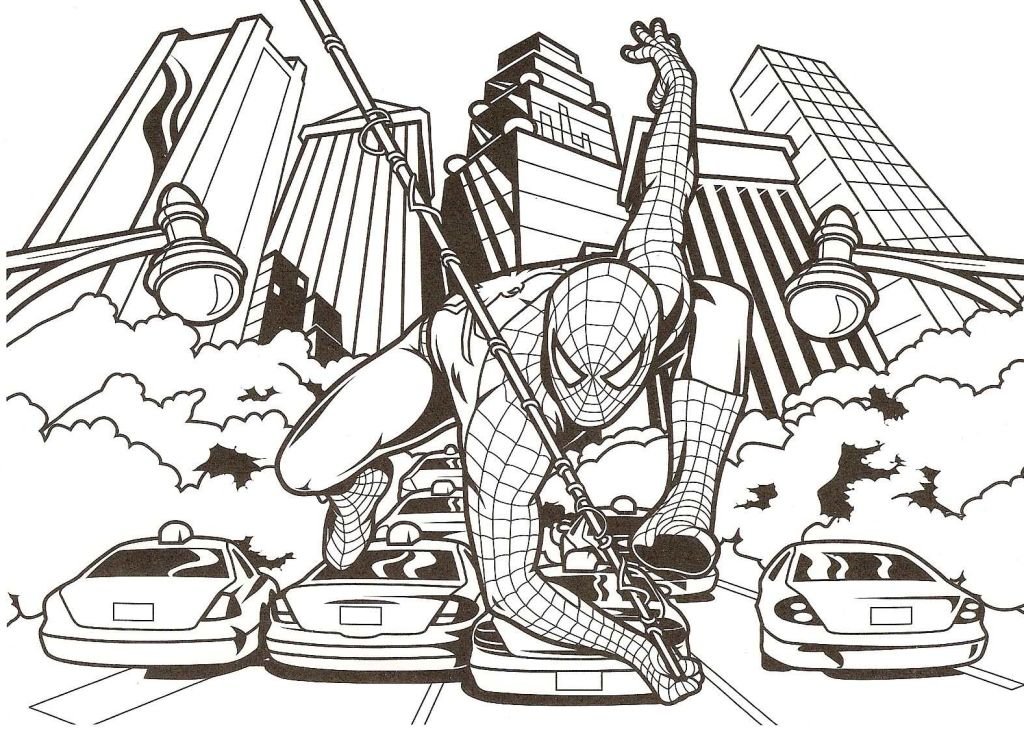 good spiderman coloring page free coloring pages online