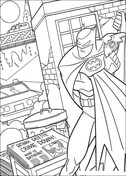 Gotham's Crime Down  from Batman Coloring Page