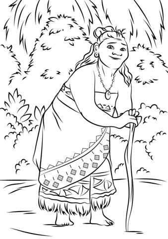 Gramma Tala from Moana from Moana