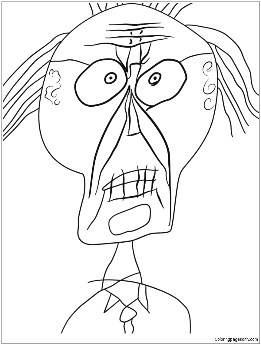Grand Maitre Of The Outsider Coloring Page