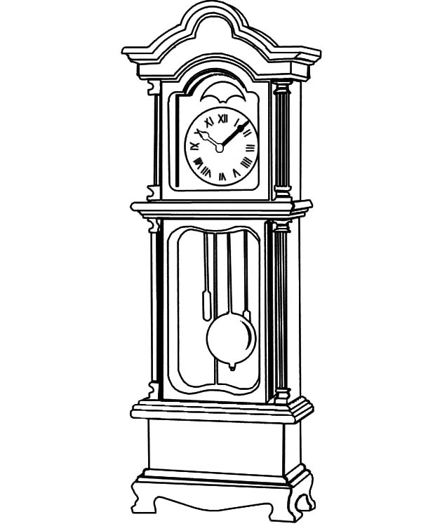 Grandfather Clock Beautiful Fretwork