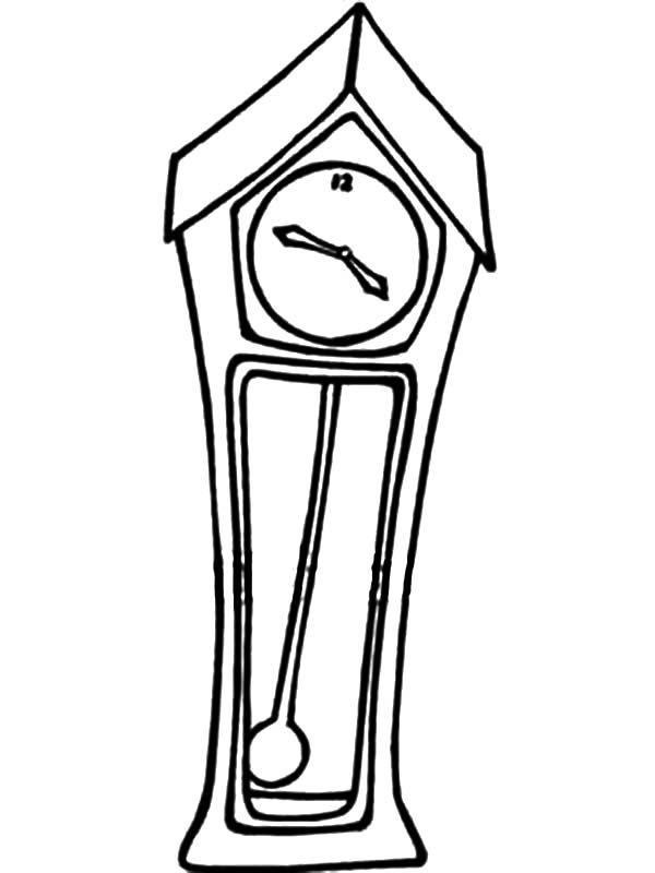 Grandfather Clock With A Swinging Pendulum