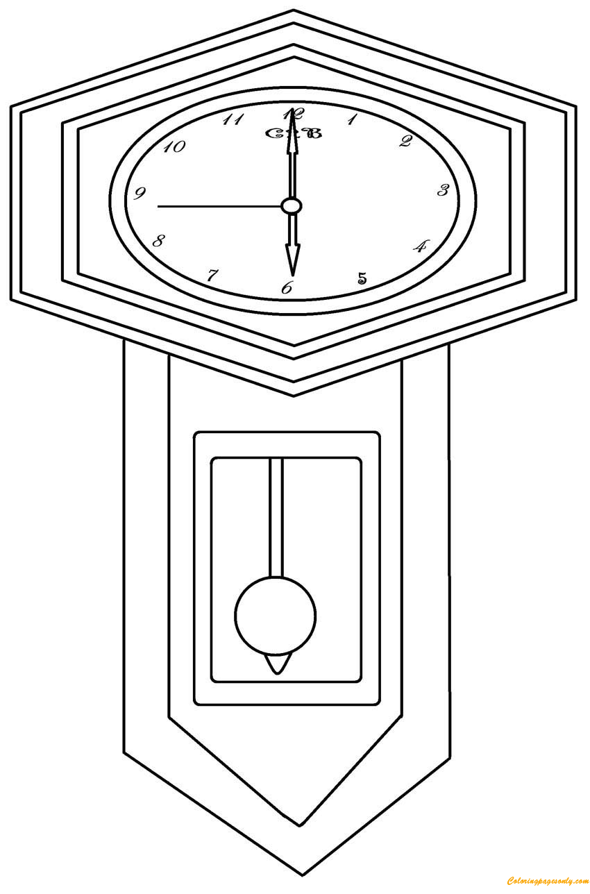 grandfather clock coloring page free coloring pages online