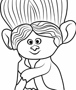 Grandma Rosiepuff From Trolls Coloring Page
