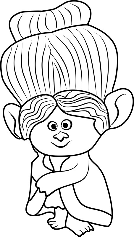 grandma rosiepuff from trolls coloring page - Trolls Coloring Pages