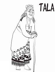 Grandma Tala Coloring Page