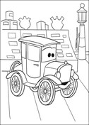 Lizzie from Disney Cars Coloring Page