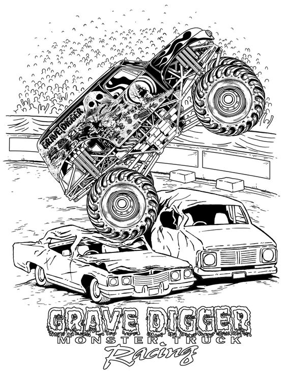 Grave Digger Monster Truck Racing