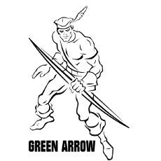 Green Arrow Partner to Batman Coloring Page