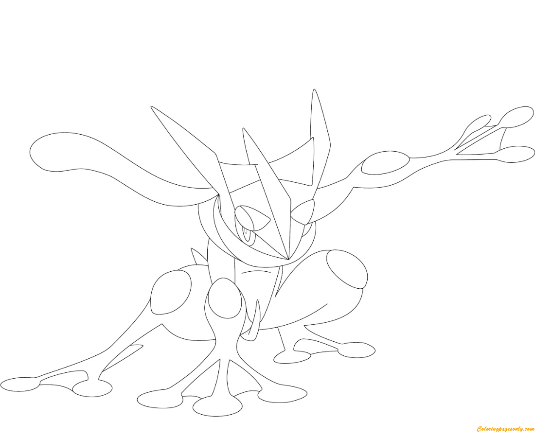 greninja pokemon pages coloring print coloringpagesonly