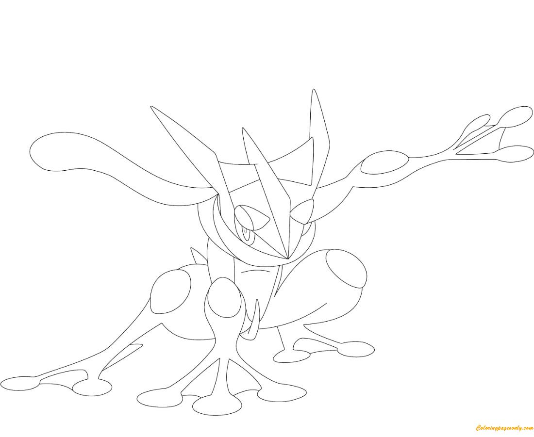 Greninja Pokemon Coloring Page