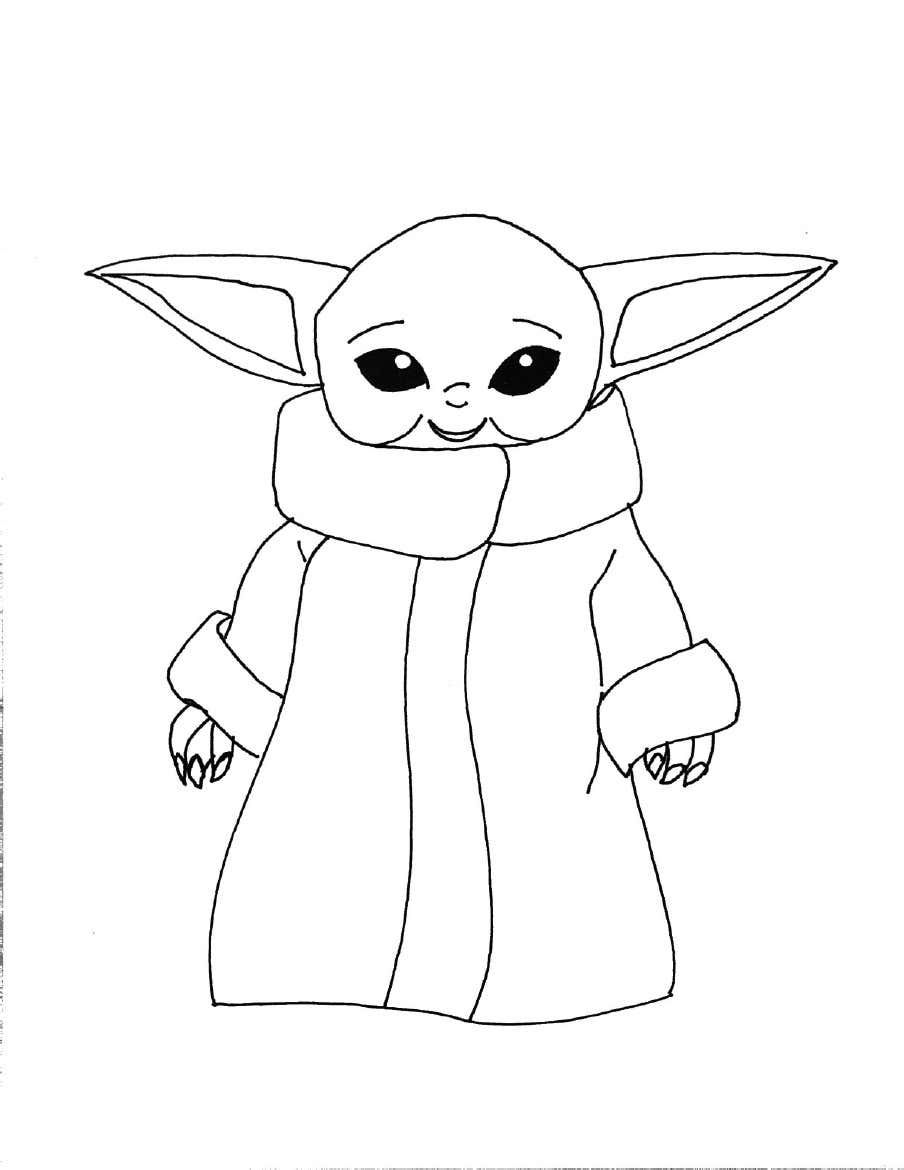 Grogu Yoda Coloring Pages