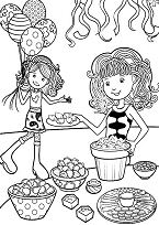 Groovy Girls Birthday Party on Preparation Coloring Page