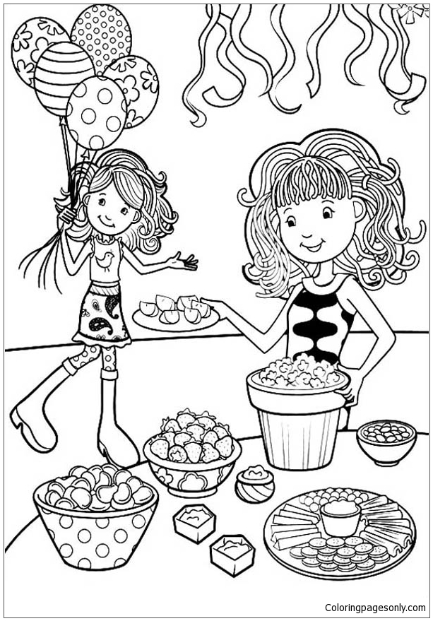 Groovy Girls Coloring Pages 41 | 879x613