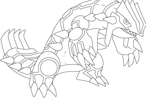 Groudon From Pokemon Coloring Page