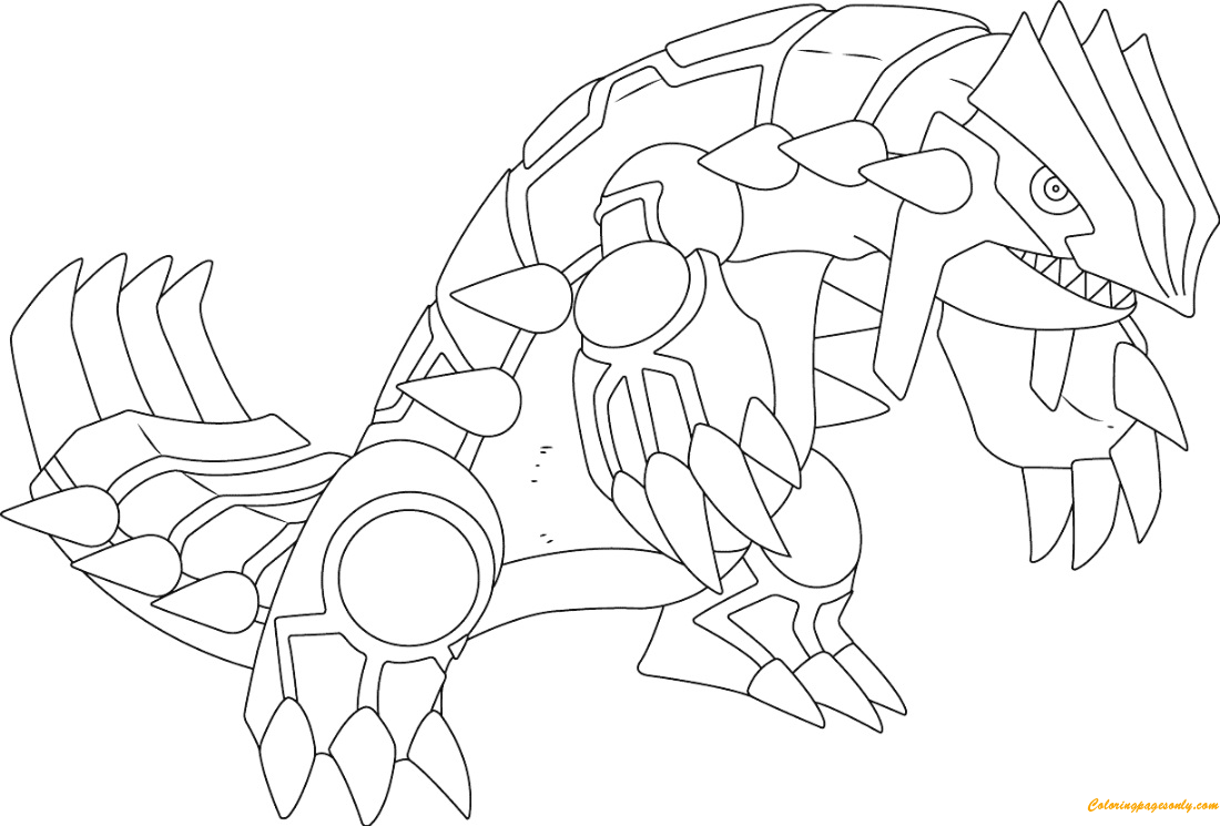 Groudon From Pokemon Coloring Page Free Coloring Pages Online