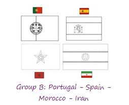 Group B World Cup 2018 Coloring Page