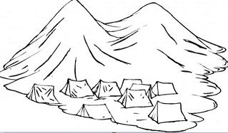 Group Of Nomads Tents In The Mountains