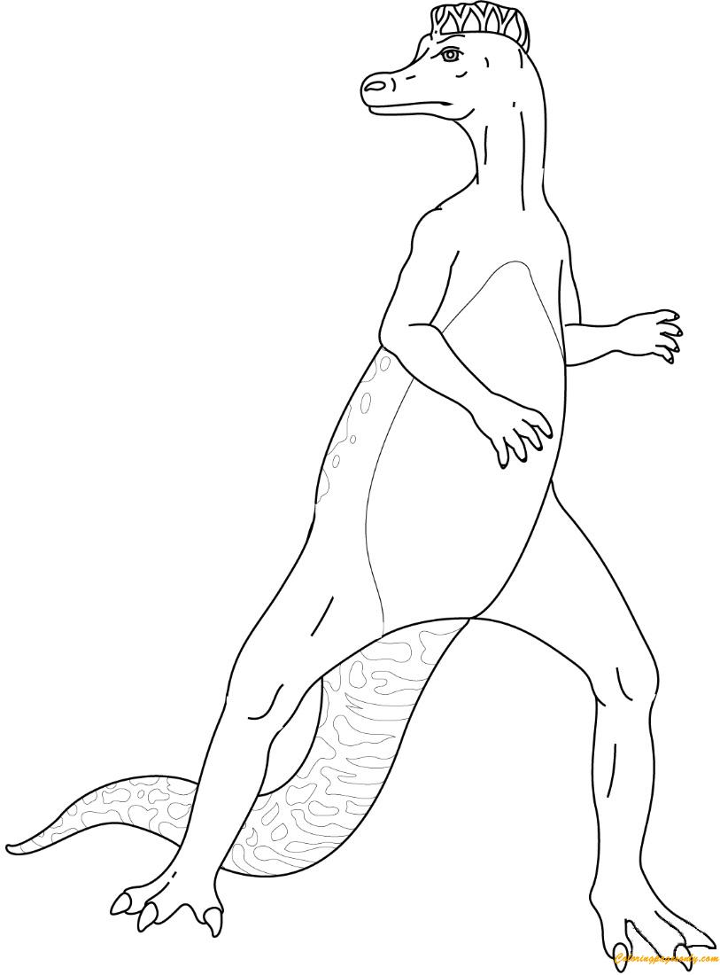 Hadrosaurus Dinosaurs Coloring Page