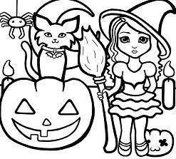 Halloween For Preschool Coloring Page