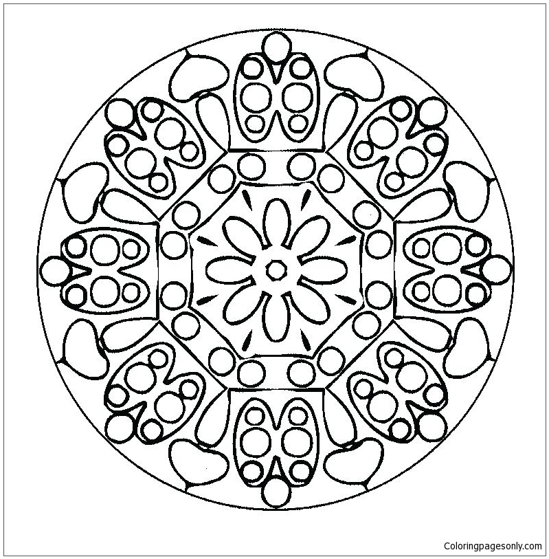 Halloween Mandala Coloring Page Free Coloring Pages Online