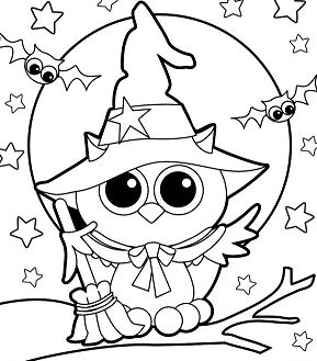 Halloween Owl Witch