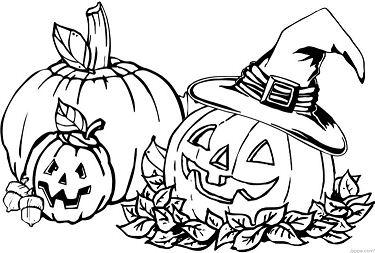 Halloween pumpkin 3 Coloring Page
