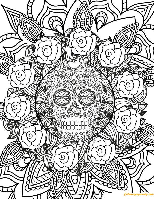 Skull Coloring Pages Small