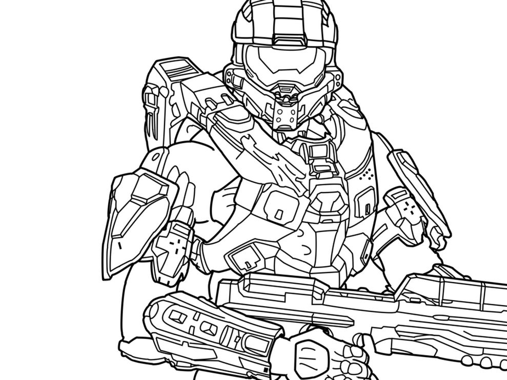 Halo Coloring Page