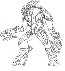 Halo 3 Elite Coloring Page