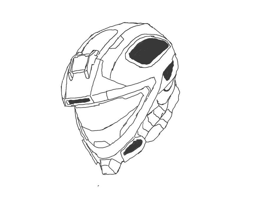 Halo 4 Helmets Coloring Page