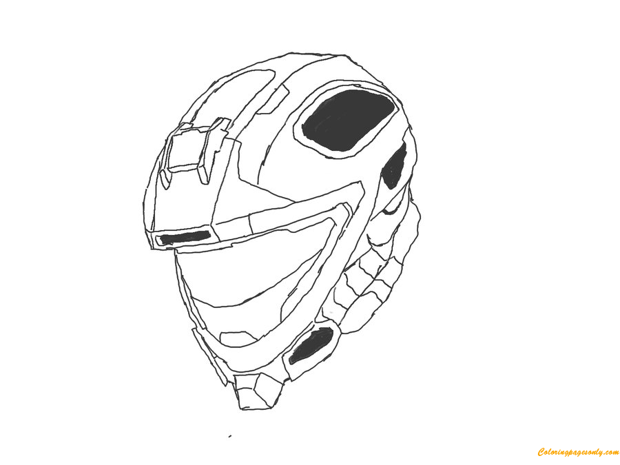 About Halo 4 Helmets Coloring Page