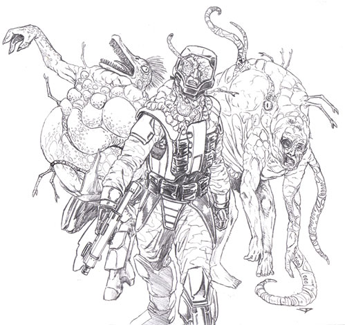 Halo and Flood Coloring Page