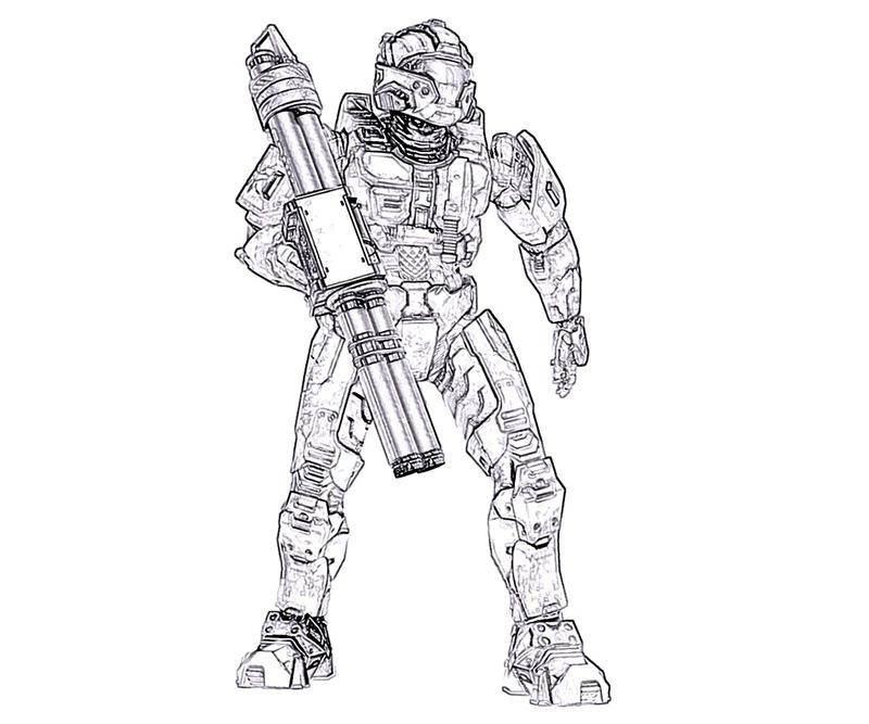 halo color pages. Halo Elite Superhero Coloring Pages  ColoringPagesOnly com